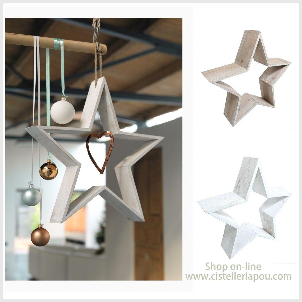 Estrellas de navidad estrellas decorativas en madera - Estrella para arbol de navidad ...