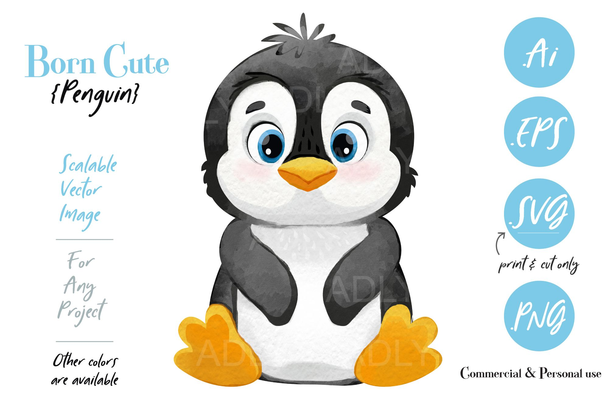 This Is A Digital Design Of A Penguin You Can Use This Clip Art Design For All Of Your Creative