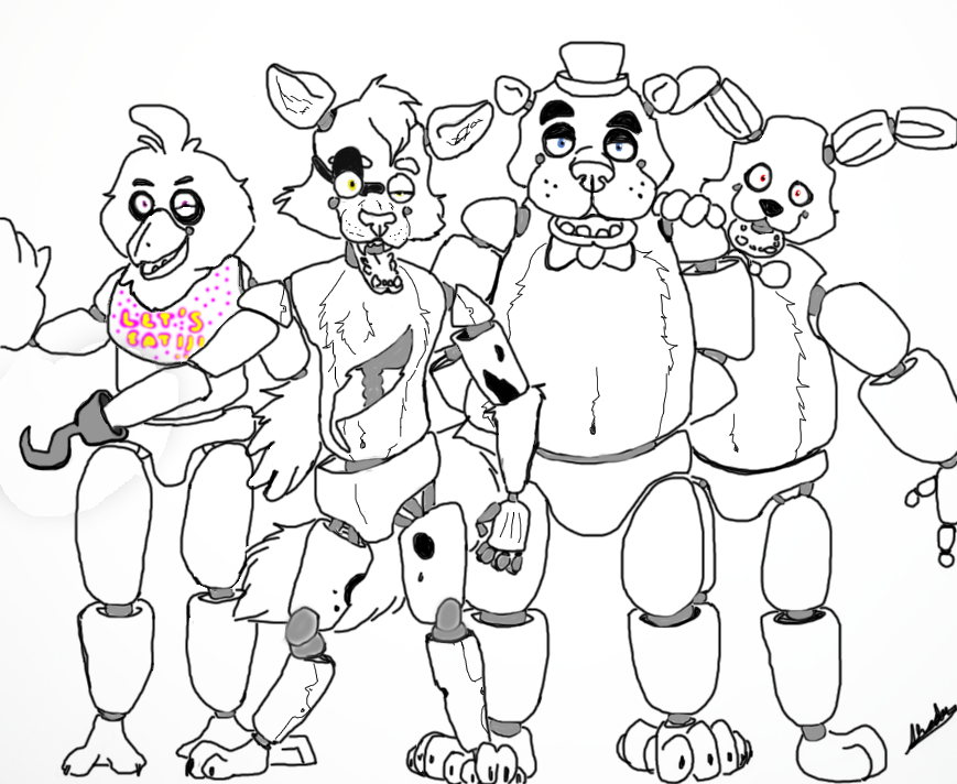 Coloring Pictures Of Five Nights At Freddy S