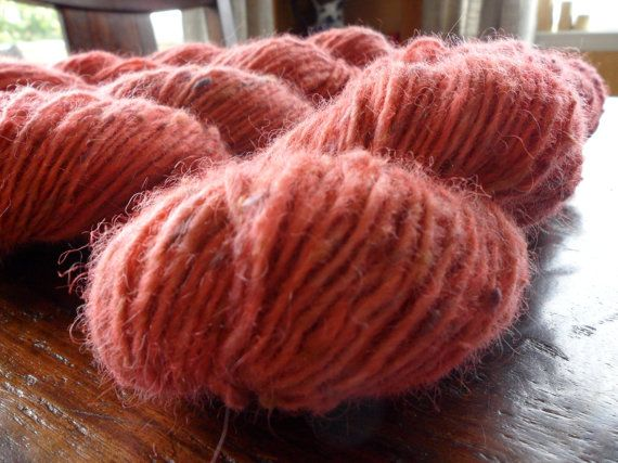 Hand Dyed Upcycled Wool Yarn by Knitpurly on Etsy, $20.00