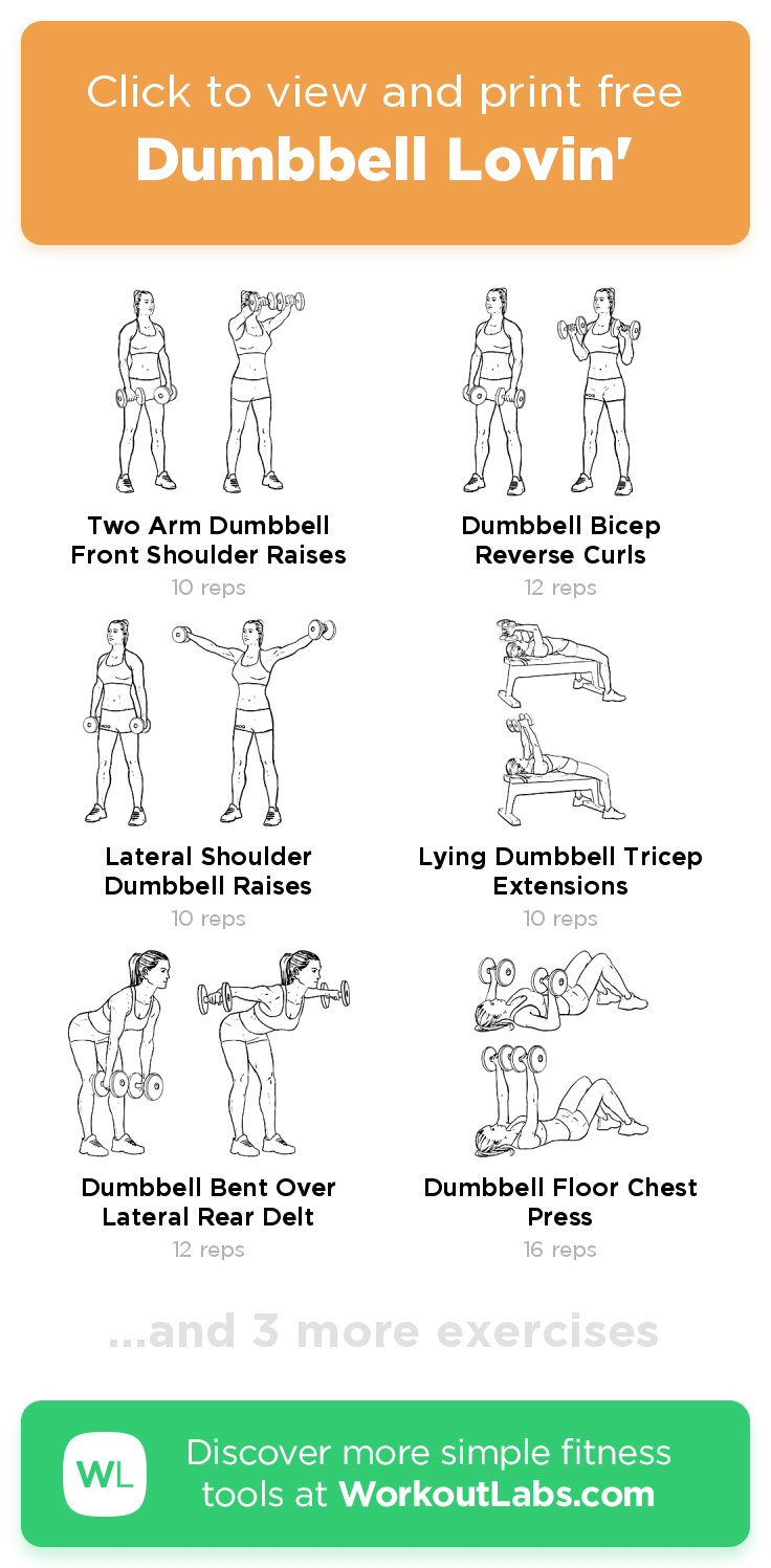 Dumbbell Lovin' free 7min arms, back, chest, shoulders