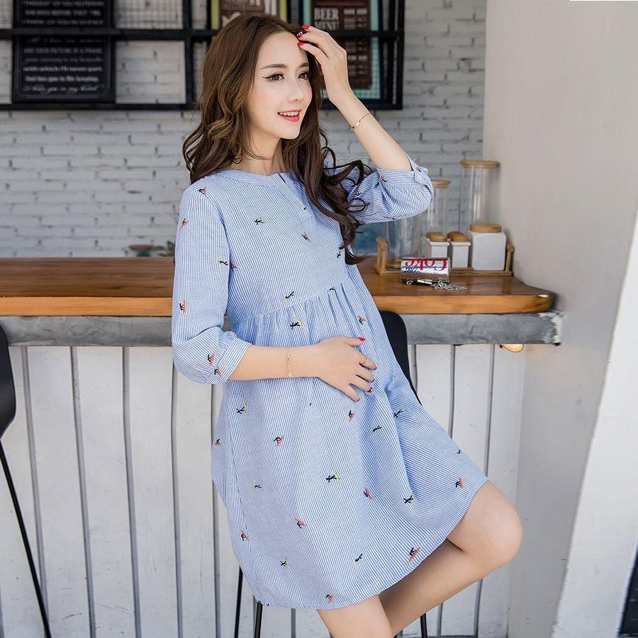 b58126b11694a Cute Elegant Maternity Clothes Pregnancy Summer Short Sleeve Cotton ...