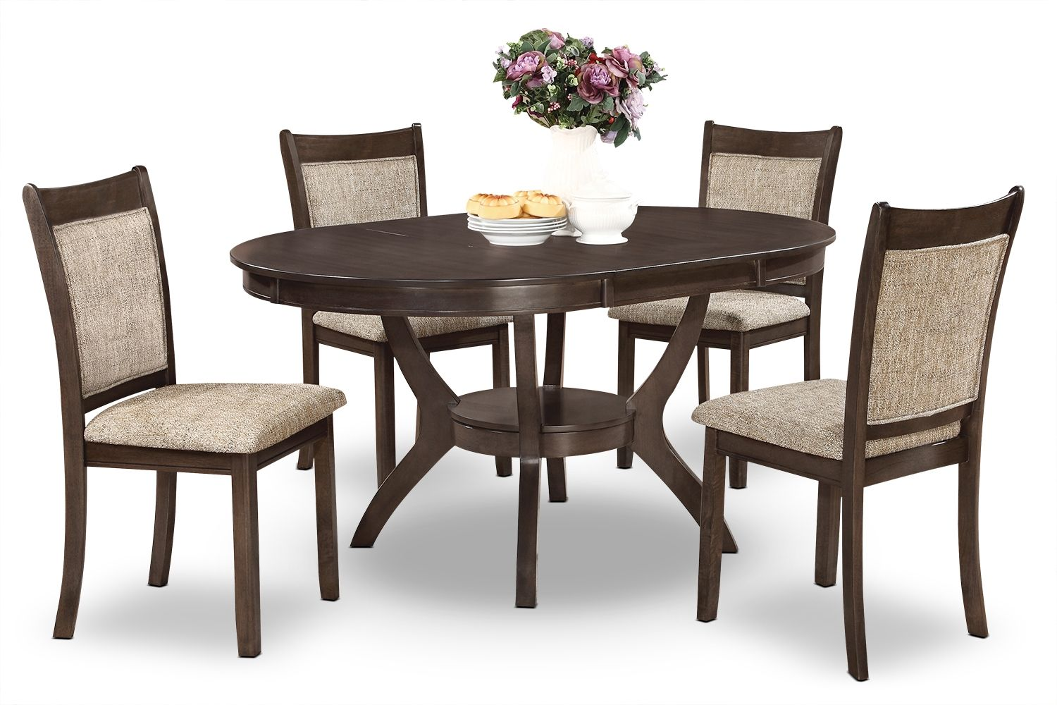 Adell 5Piece Dining Package  Browngrey  The Brick  Decor Prepossessing Dining Room Accent Pieces Inspiration
