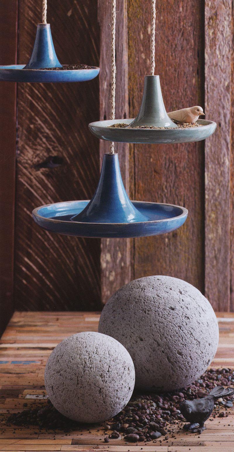 Cote Dazur Hanging Bird Bath Hanging Bird Bath Modern Bird