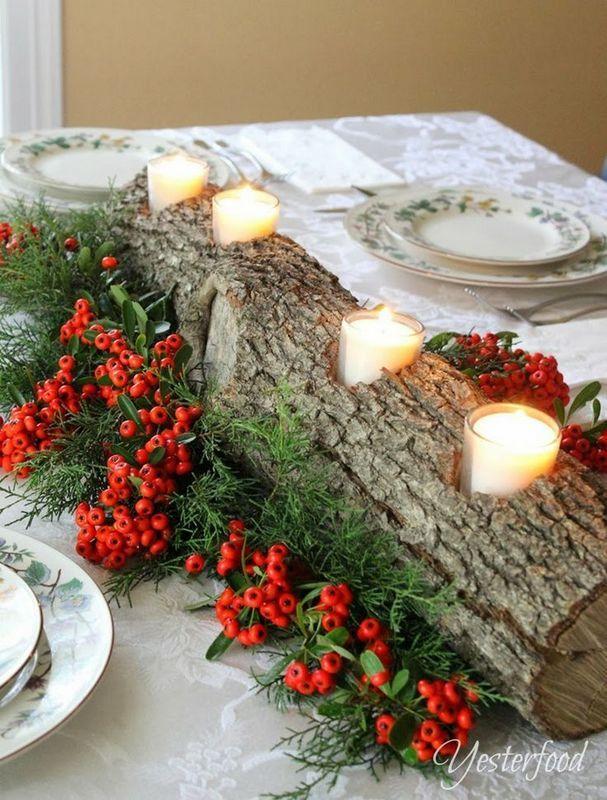 62 Christmas Decoration Ideas With Natural Materials Bricolaje De Decoraciones De Navidad Decoraciones Rusticas De Navidad Faroles De Navidad