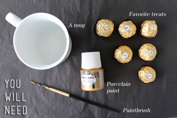 diy anthropologie gold foil mugs - Google Search
