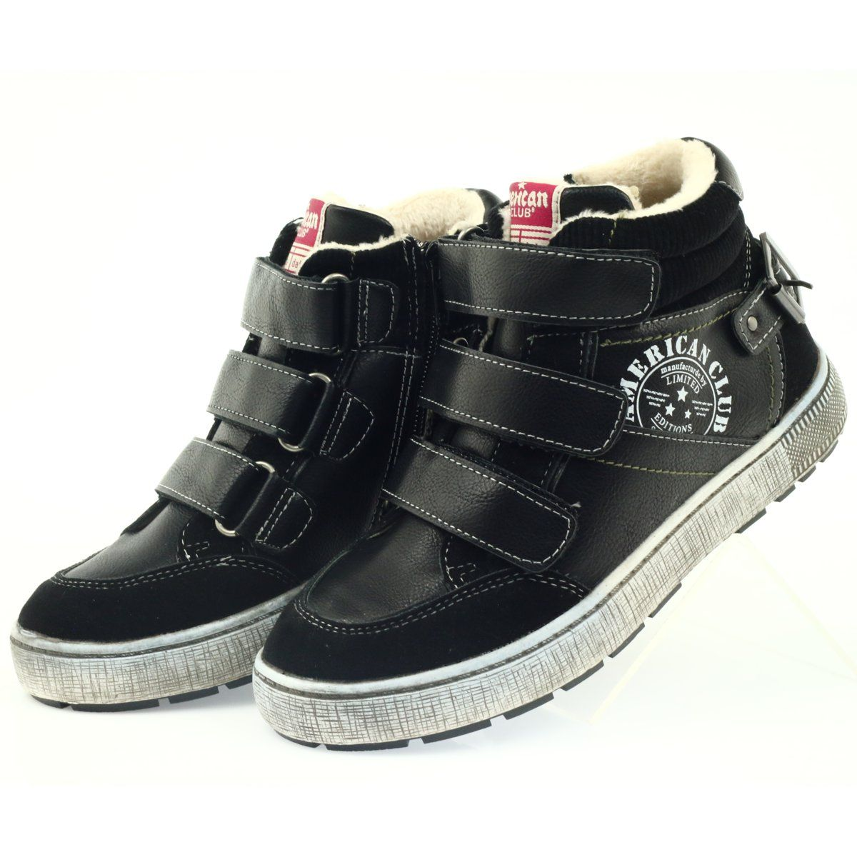 American Club Czarne Trzewiki Sportowe Zimowe 17779 Winter Sport Shoes Sports Shoes Shoes