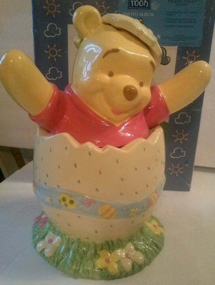 Disney Cookie Jars 1968 Now For Sale Ebay >> Collectible Wdw Winnie The Pooh Easter Egg Cookie Jar Disney Store