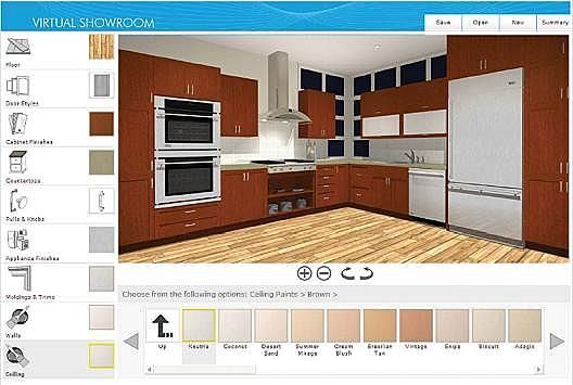 Free Virtual Kitchen Designs Tools Online Home Constructions