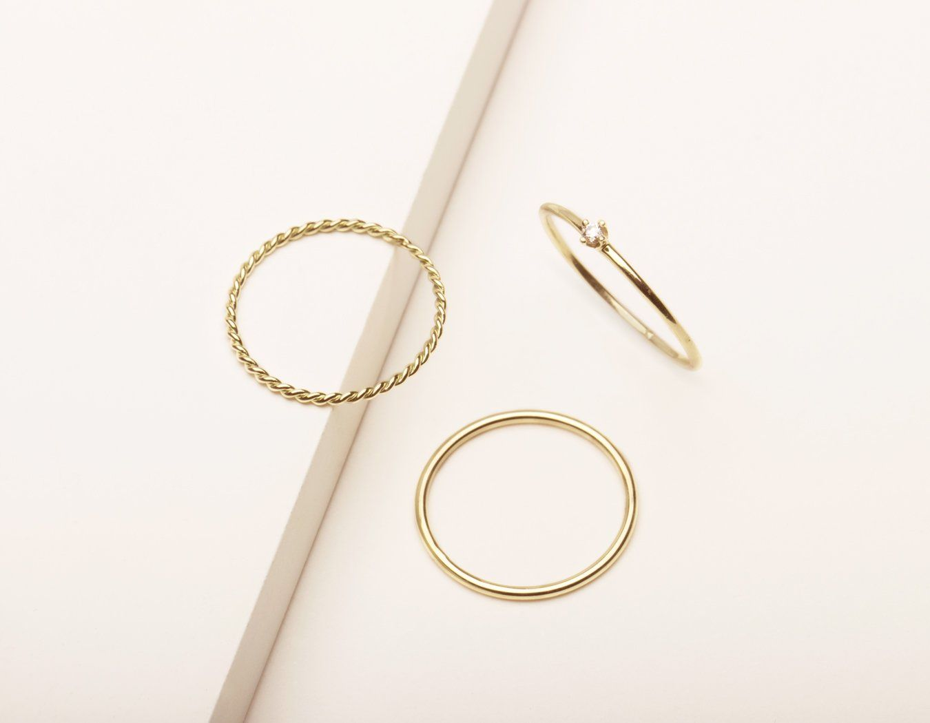 47147931bb9e52 Simple Stack | Pretty Stuff | Gold, Stacking rings, Solid gold
