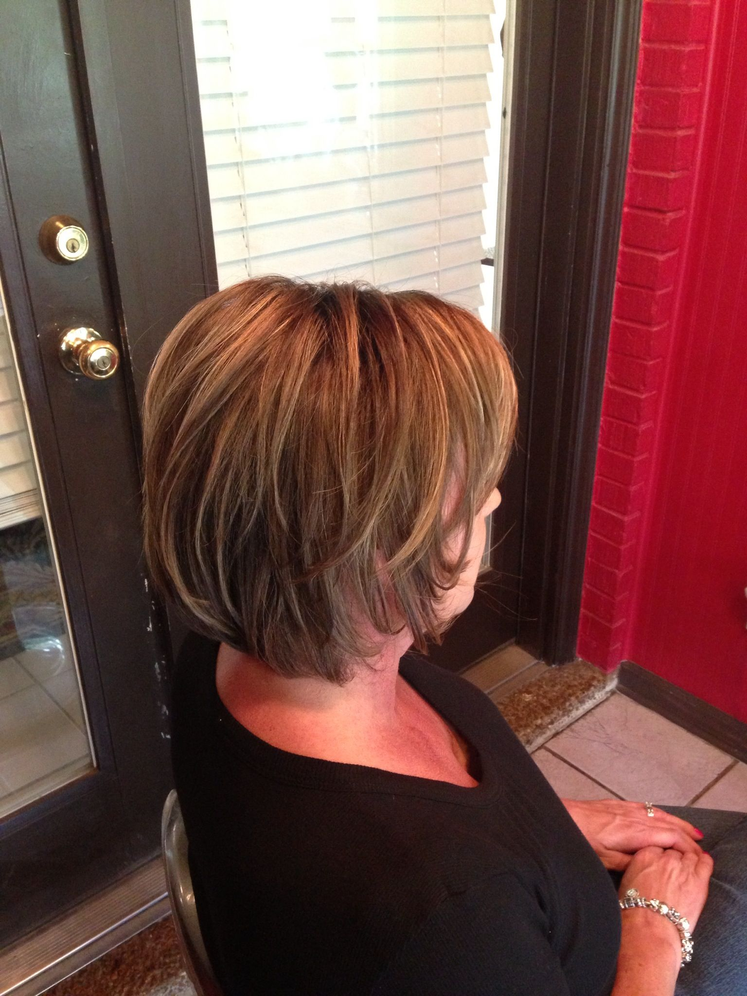 Rich Brunette Hair Color With Pecan And Honey Highlights Medium