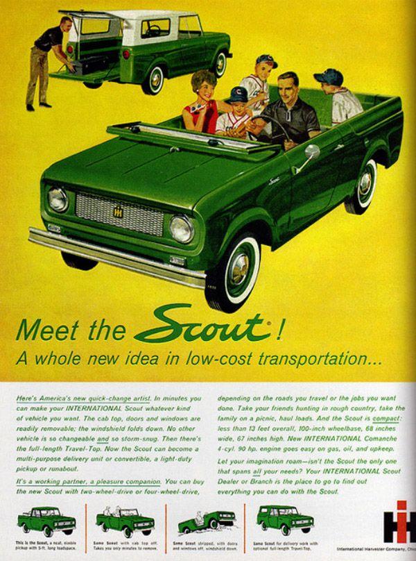 32 exemplos de Propagandas antigas | International scout, Cars and ...