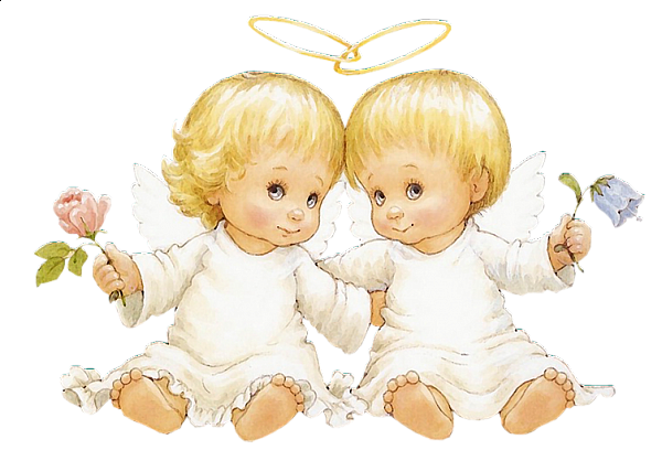 Two Baby Angels With Flowers Free Clipart Baby Angel Angel Pictures Free Clip Art