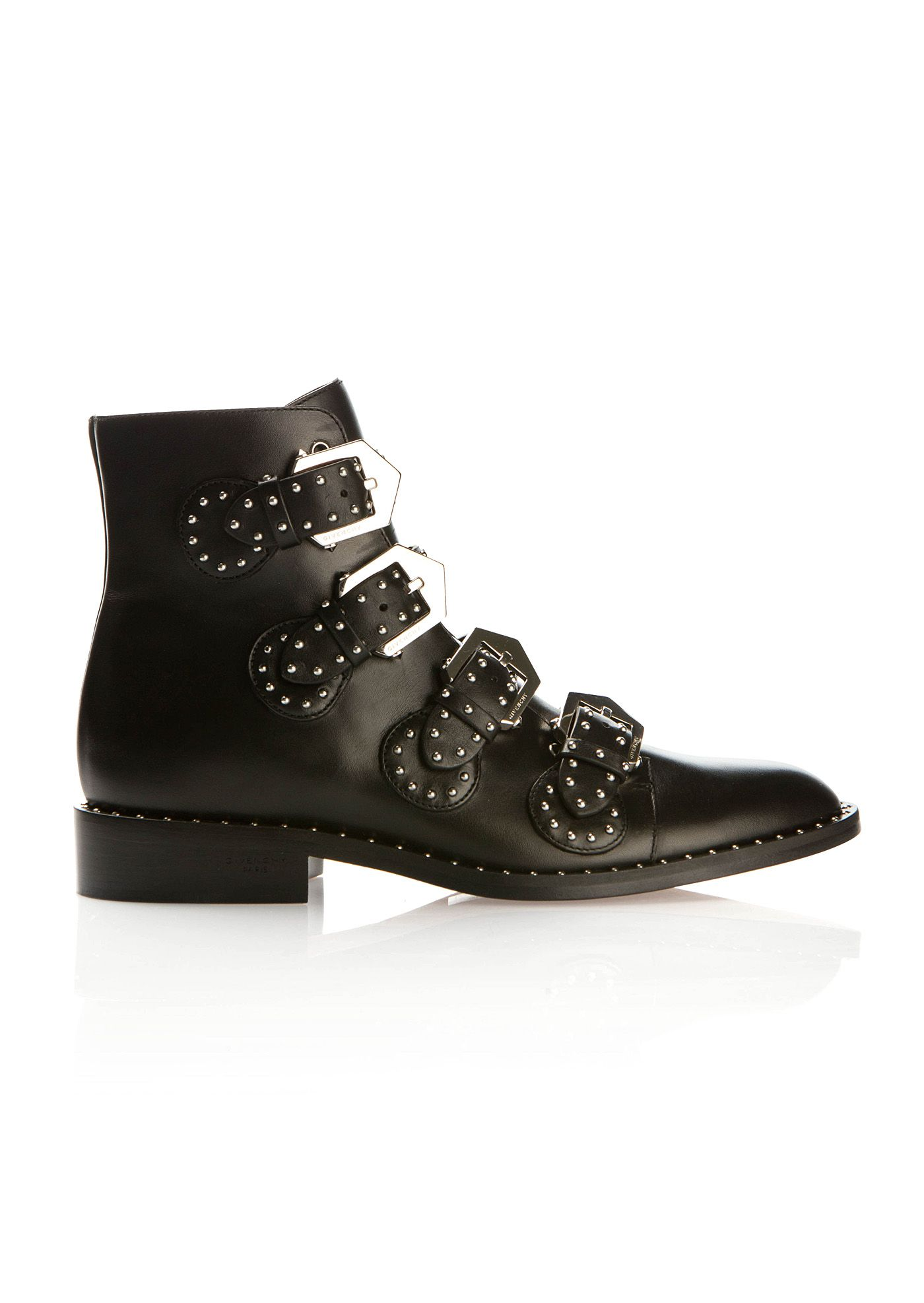 Givenchy Ankle boots :: Givenchy Elegant studded black leather ankle boots  | Montaigne Market