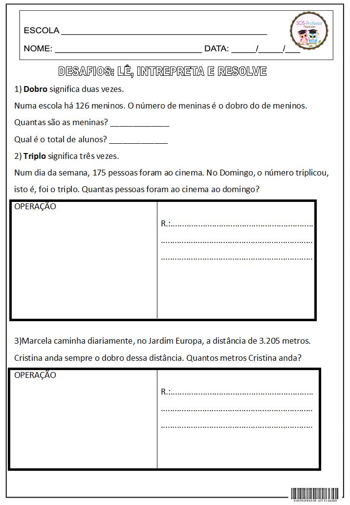 Desafios Educacao Matematica Matematica Matematica Pdf