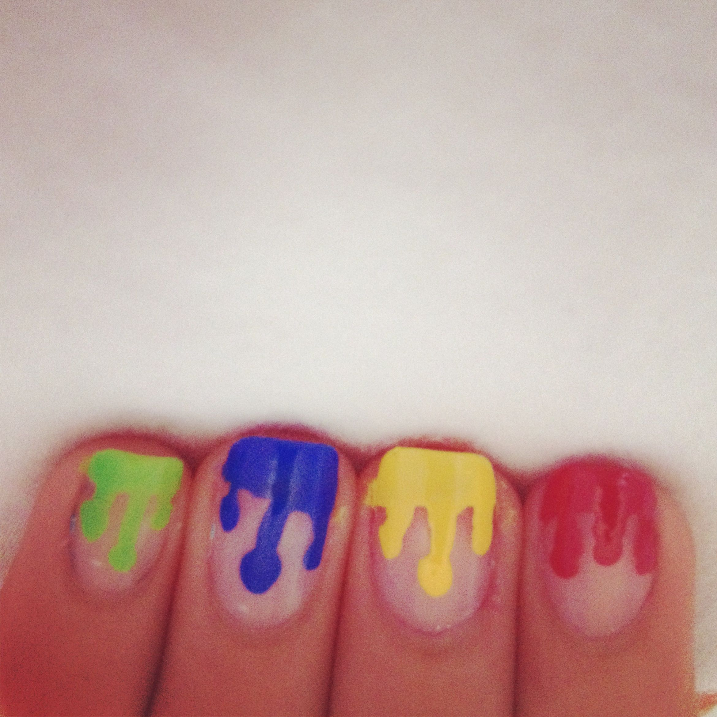 Dripping Paint Nails My Nail Designs Pinterest Dripping Paint