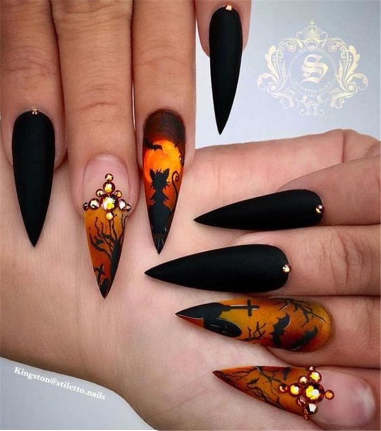 Halloween Halloween Nail Designs Horror Nails Stiletto Nail Art