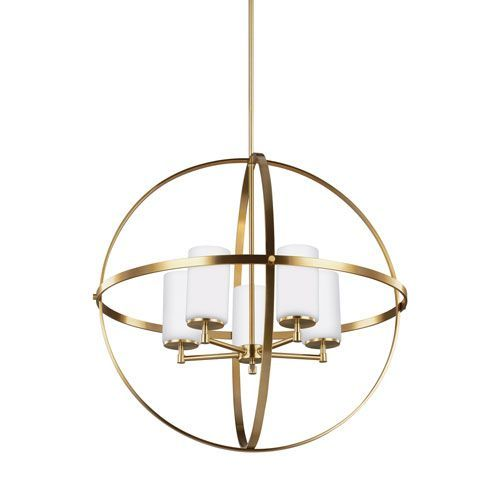 Alturas Satin Bronze 27-Inch Energy Star Five-Light Chandelier