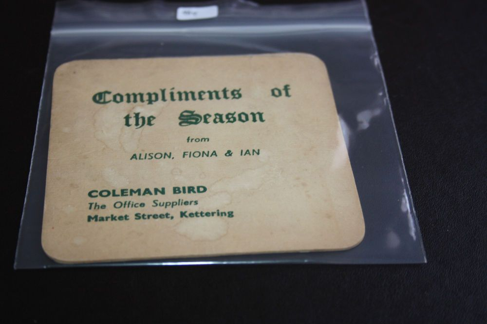 Commercial Beermat Coleman Bird Office Supplies, Kettering (2C37 9/14)