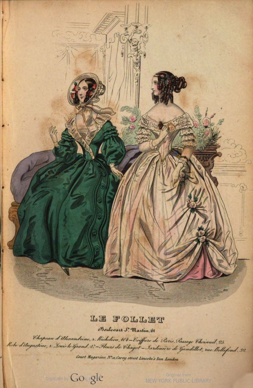 April 1840 Le Follet Or Court Magazine