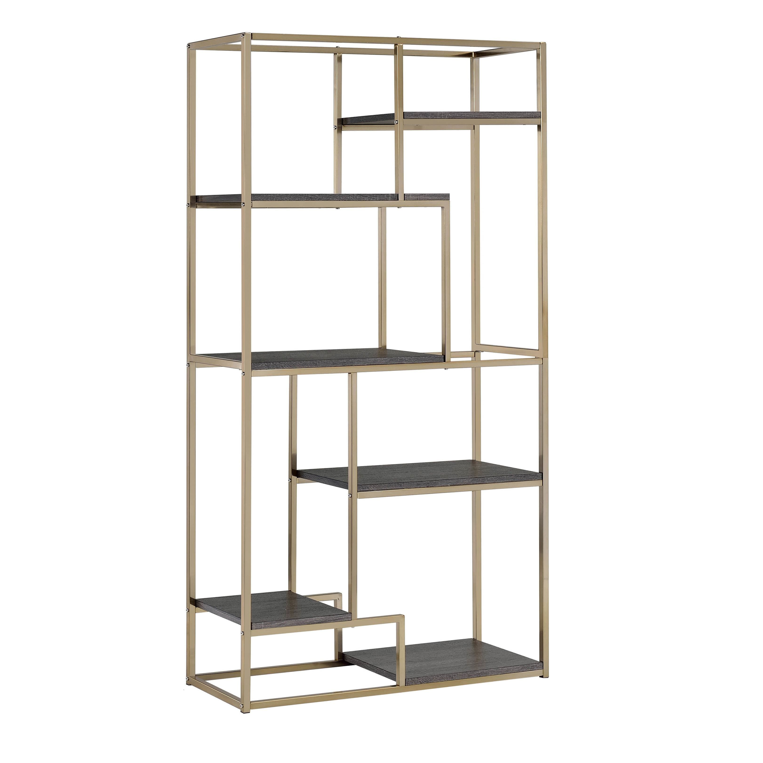 Furniture Of America Nara Contemporary 6 Shelf Tiered Open Bookcase |  Overstock.com Shopping