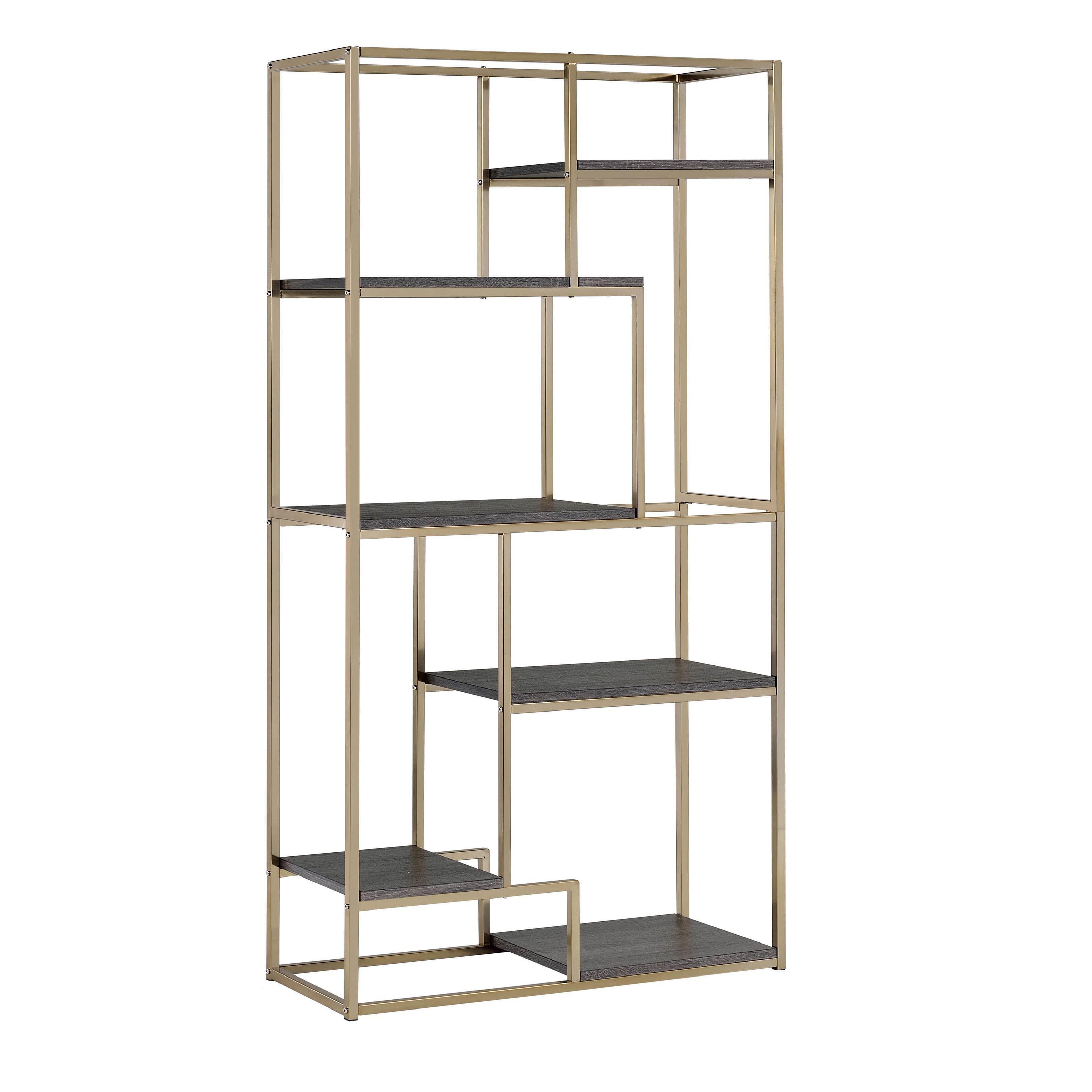 Furniture Of America Nara Contemporary 6 Shelf Tiered Open Bookcase    Overstock.com Shopping