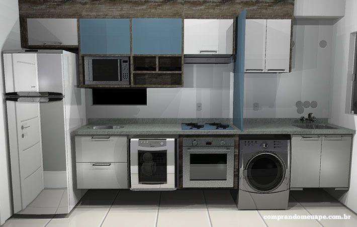 O projeto da minha cozinha planejada casas interior - Armarios para casas pequenas ...