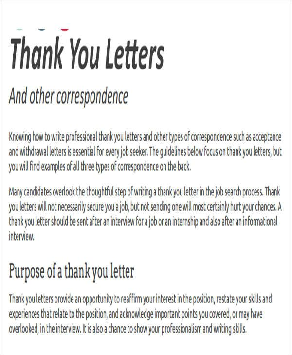 thank you letter format free premium templates News to Go 2 - internship thank you letter