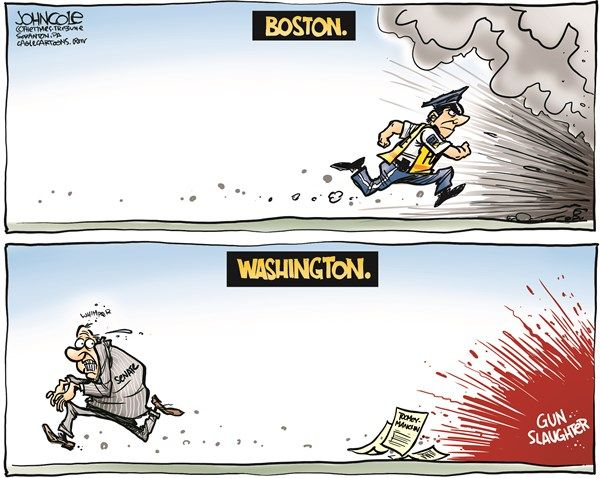 Boston and Washington Comparison political cartoons