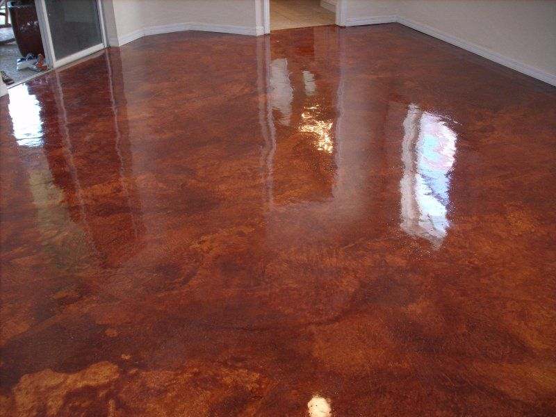 How To Stain Interior Concrete | Concrete Technology Of Brevard   Stained  Concrete