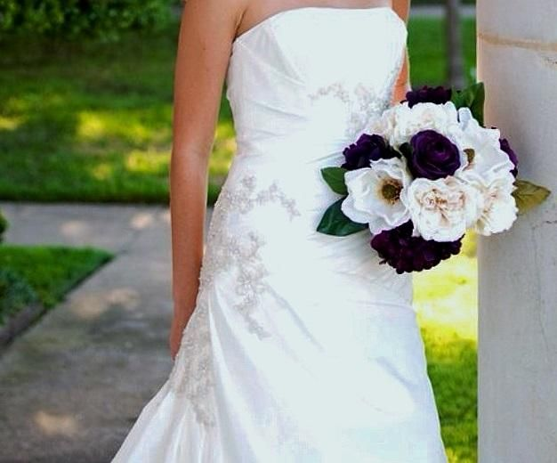 David's Bridal T9579 2 find it for sale on PreOwnedWeddingDresses.com