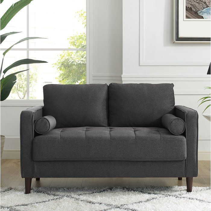 Best Garren 52 Square Arms Loveseat Sofa Upholstery 640 x 480