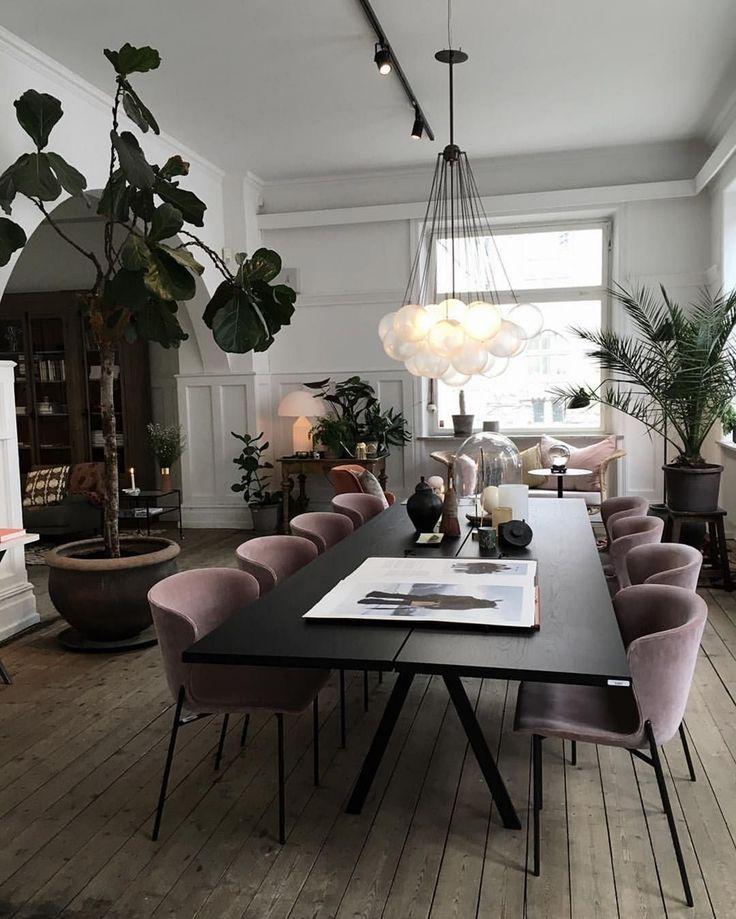 Wunderschöne 30 moderne minimalistische Esszimmer-Design-Ideen für ein komfort…