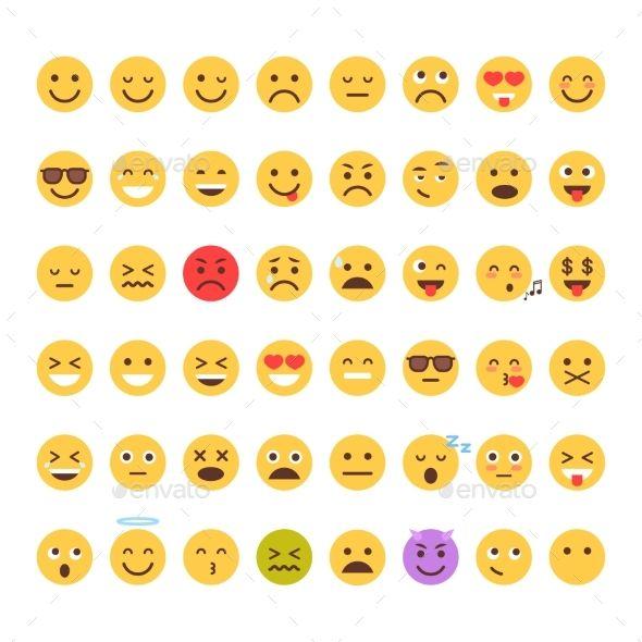 Yellow Cartoon Face Set Emoji People Different Emoji People Cartoon Faces Pet Logo Design