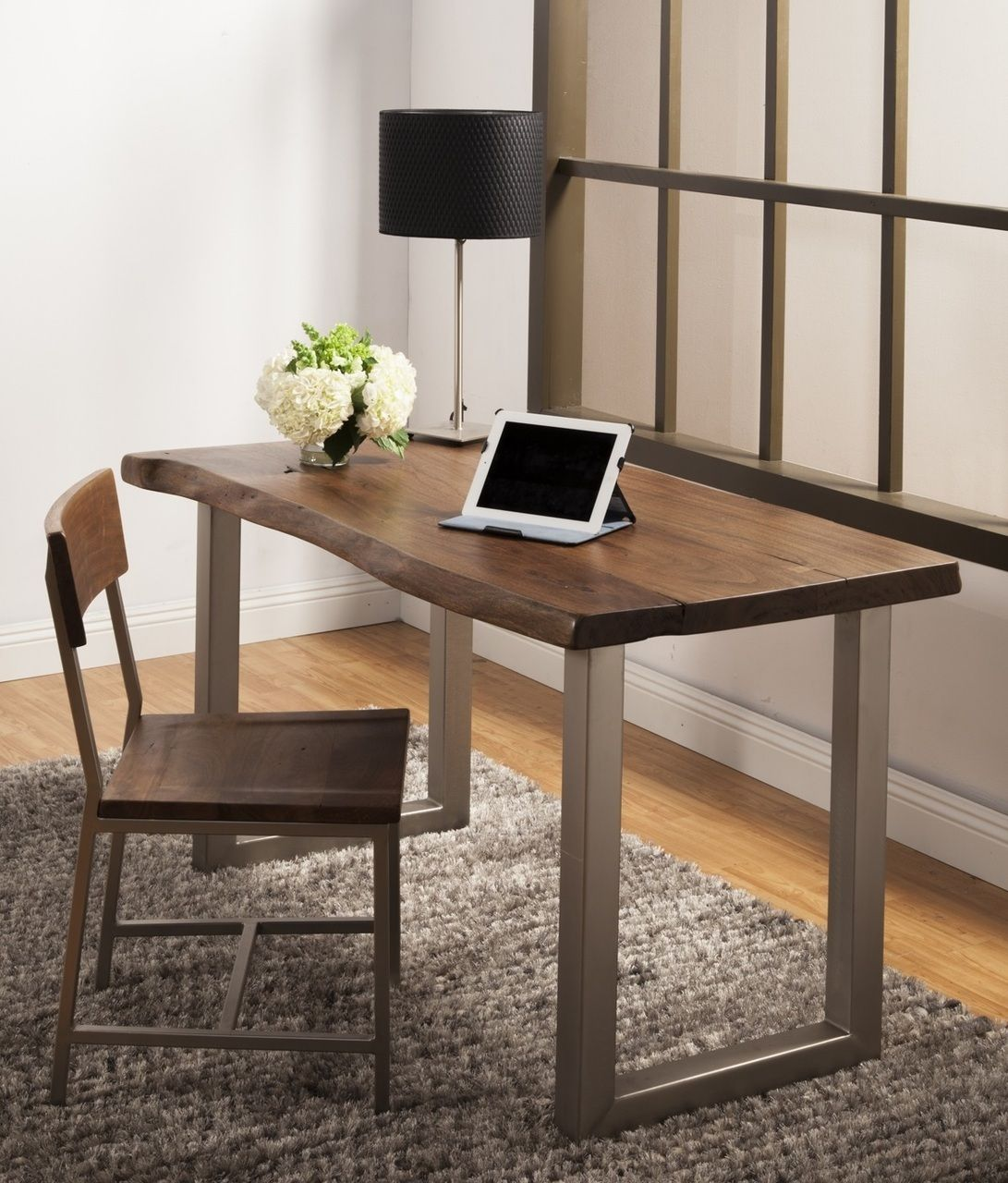 Montana Solid Wood Metal Leg Desk Industrial Design Furniture