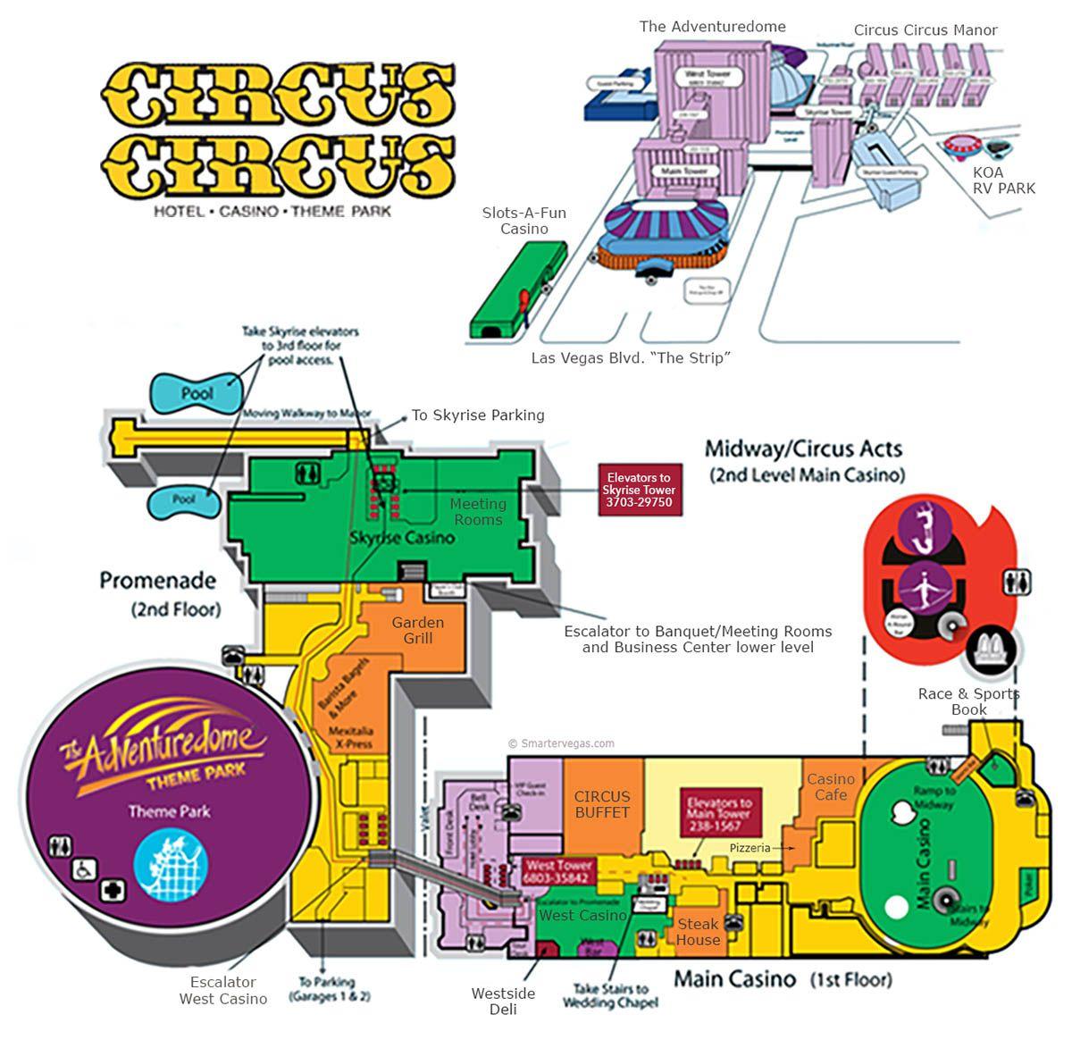 Circus Circus Casino Property Map Amp Floor Plans Las