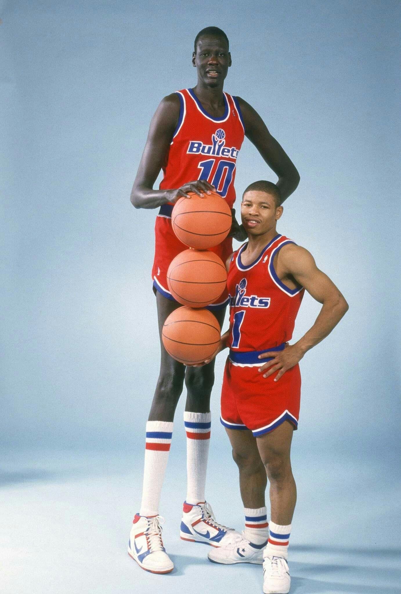 6f350a8d017 Manute Bol & Mugsy Bogues   NBA   Manute bol, NBA, Basketball
