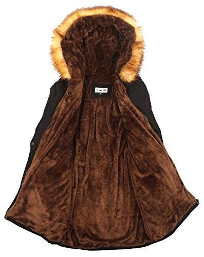 f24fd0469ae iLoveSIA Womens Hooded Warm Coats Parkas with Faux Fur Jackets ...