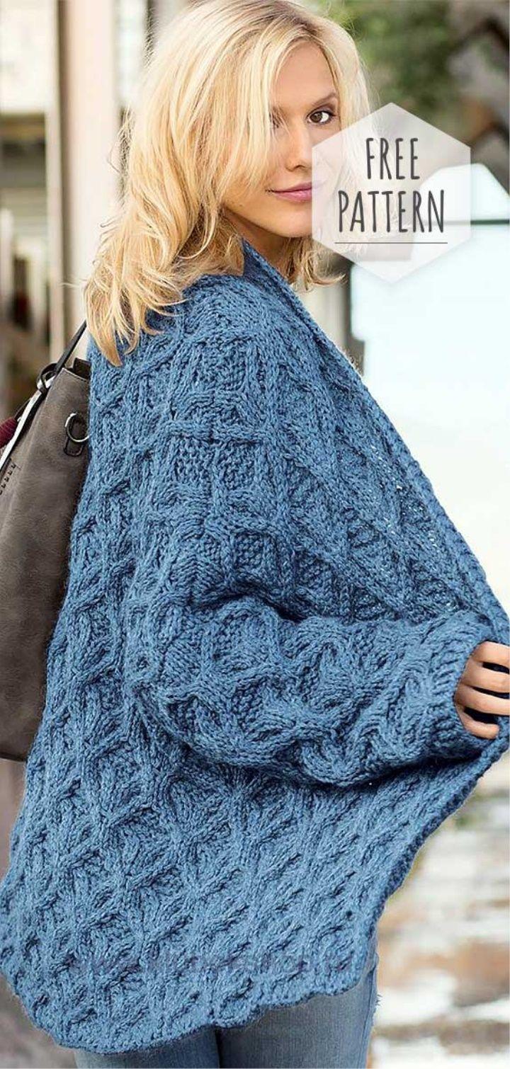 Knit Cardigan Free Pattern | Knitting patterns free ...