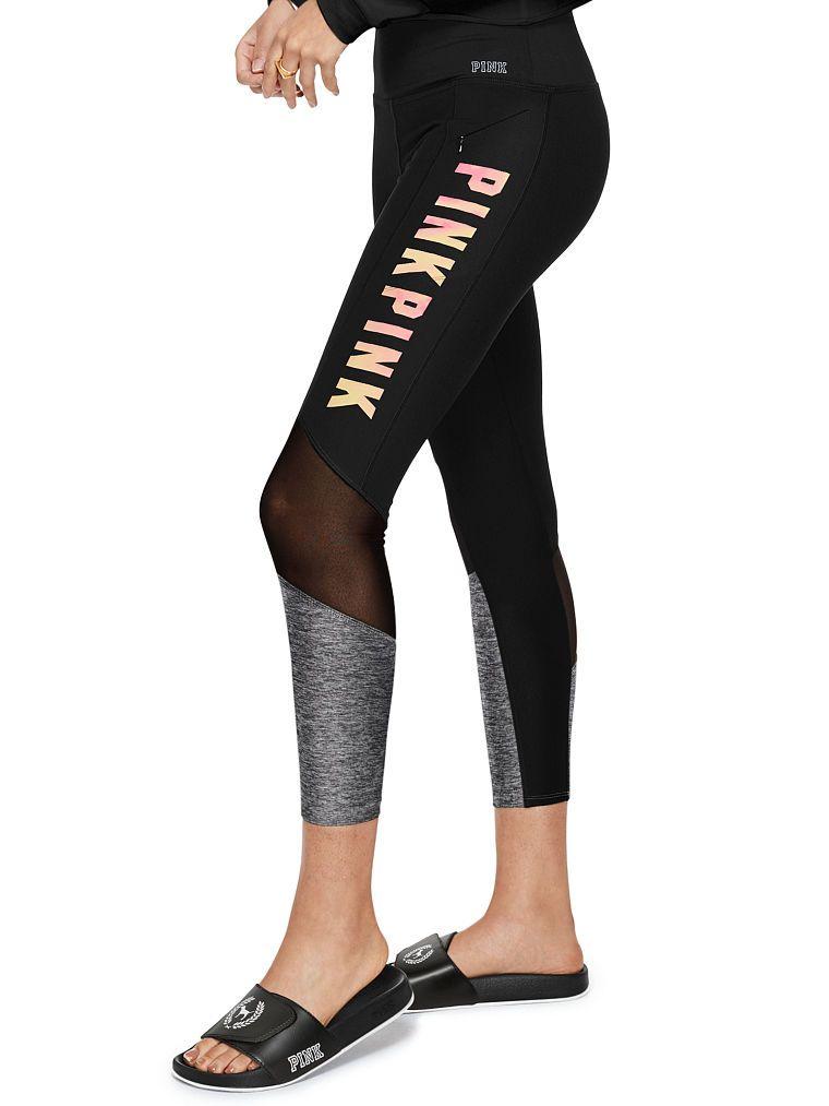 e633ffacdf7a67 Ultimate High Waist Mesh Pocket Legging - PINK - Victoria's Secret ...
