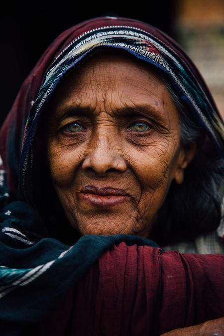 Portrait Of An Old Woman Photo By Achal Mishra National
