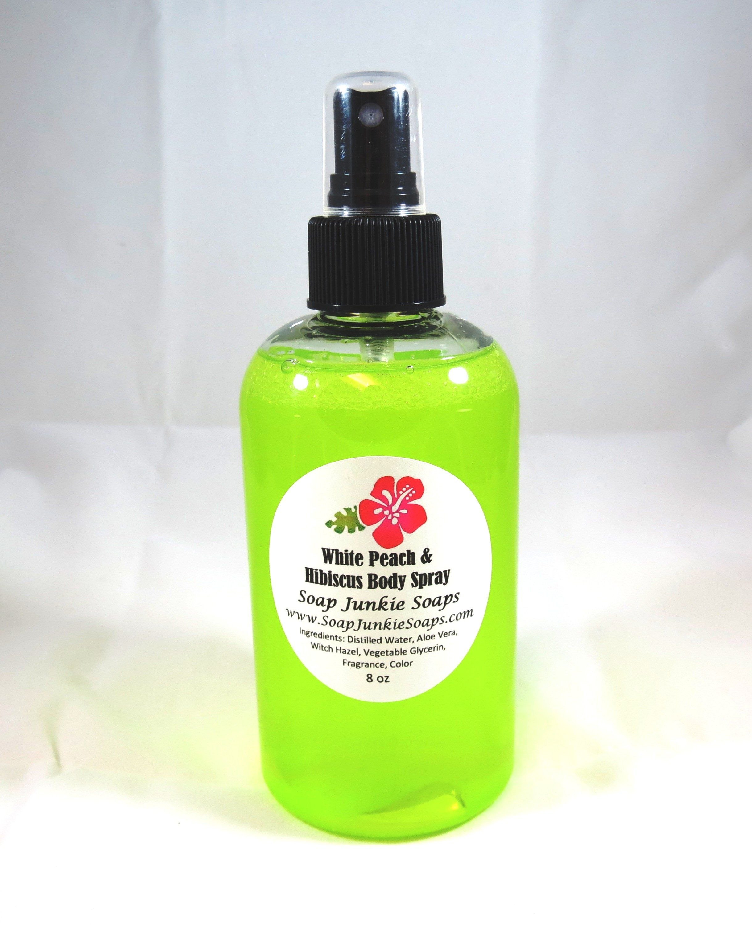 White Peach and Hibiscus Scented Body Spray Mist * Room
