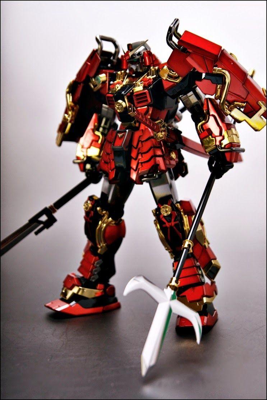 Painted Build MG 1/100 Shin Musha Gundam Gundam Kits
