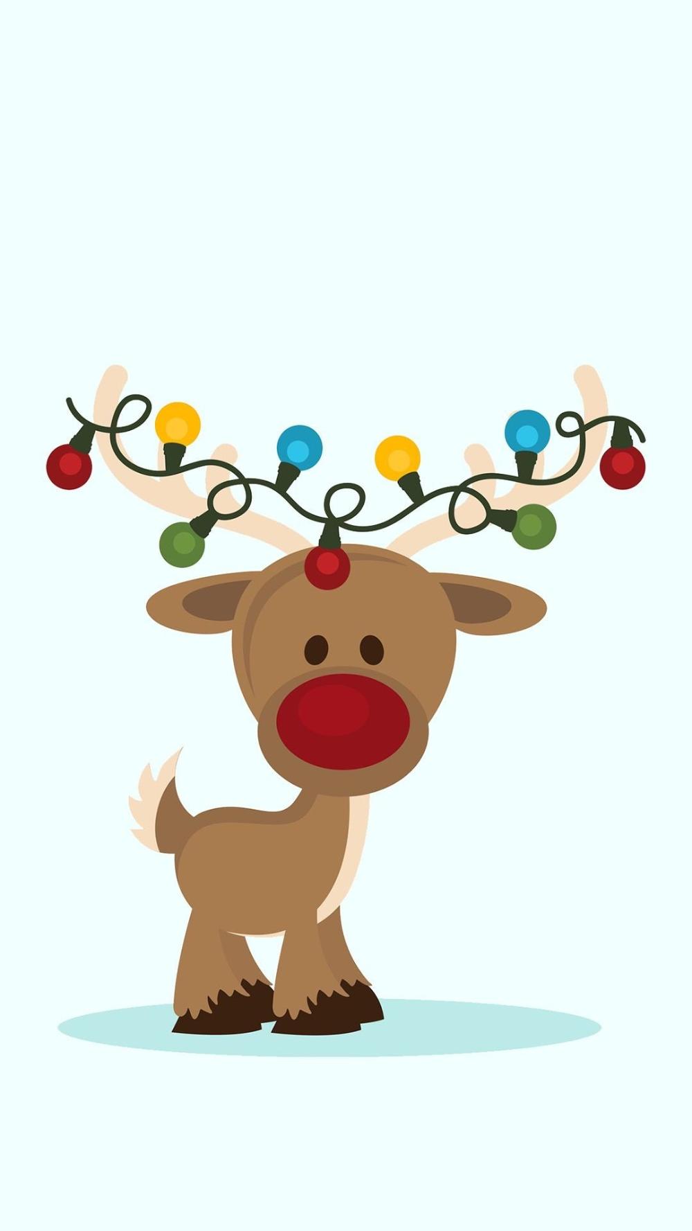 Cute Reindeer Wallpaper 49 Images Christmas Phone Wallpaper Cute Christmas Wallpaper Wallpaper Iphone Christmas