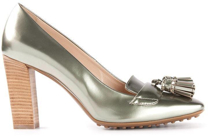 665ac708e5d Galactic fashion. Tod s tasseled loafer pumps  shopstyle.com  280 ...