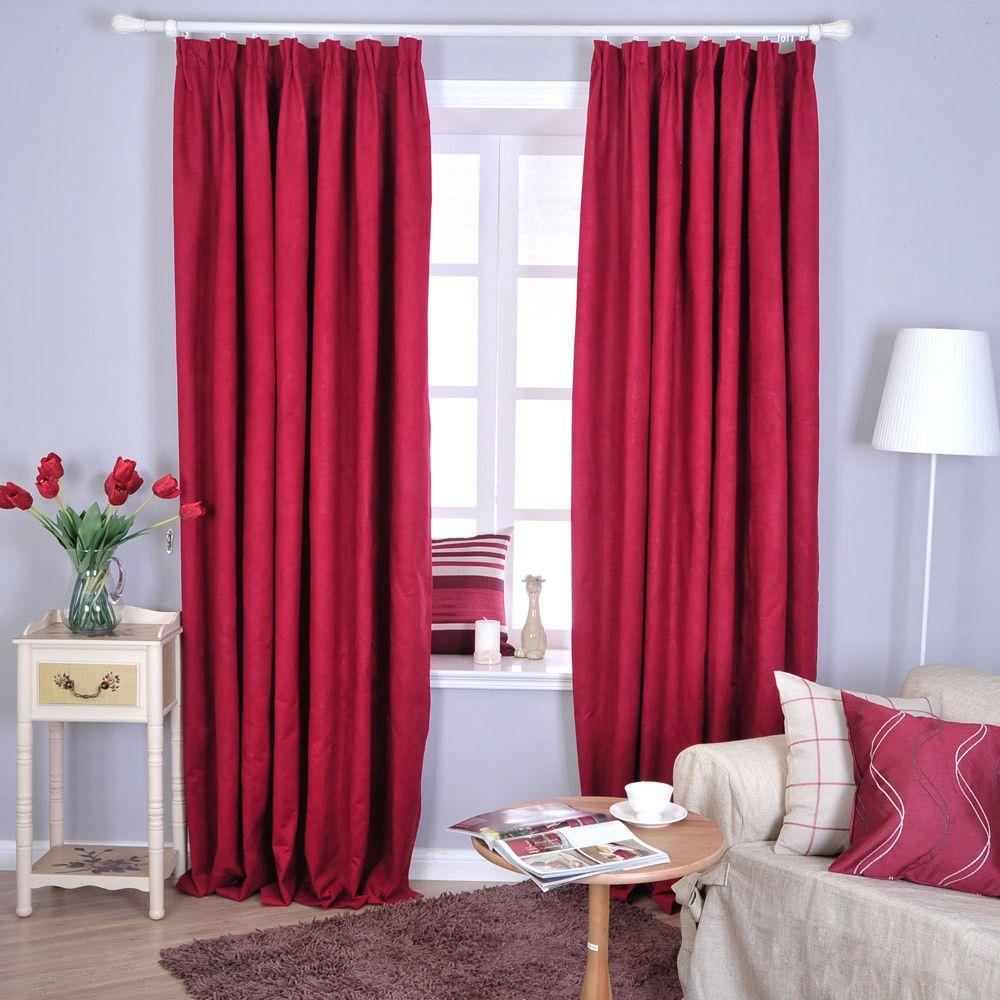 Cortinas rojas de dormitorio buscar con google mi for Cortinas para aulas