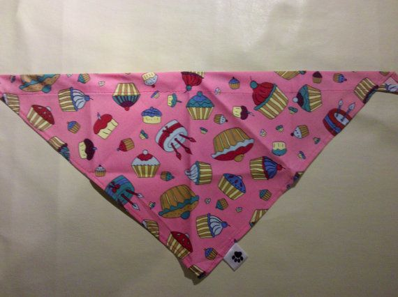 Pink Cup Cake Dog Bandana by Puppichic on Etsy, £4.50