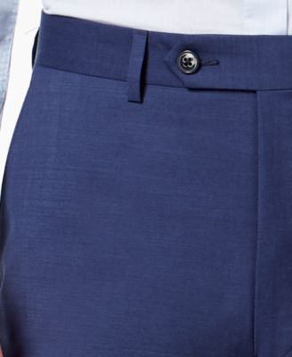 13b241ca3 Calvin Klein Men's Extra-Slim Fit Infinite Stretch Blue Twill Suit Pants -  Blue 36x30