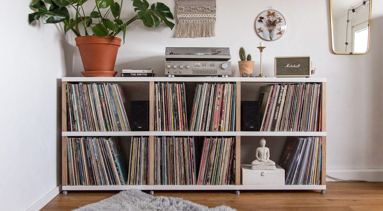 Schallplattenregal Fur Platten Aufbewahrung Diy Und Nach Mass