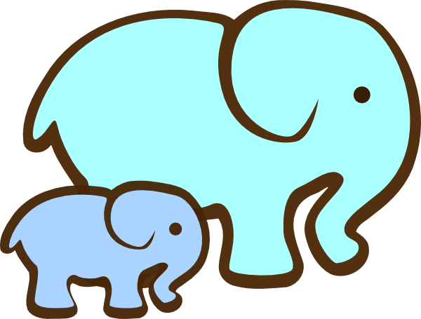 free mom and baby elephant clipart best graphic sharing